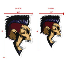 "Load image into Gallery viewer, ""Jason Hook Profile Skull"" sticker pack [4 Large]"