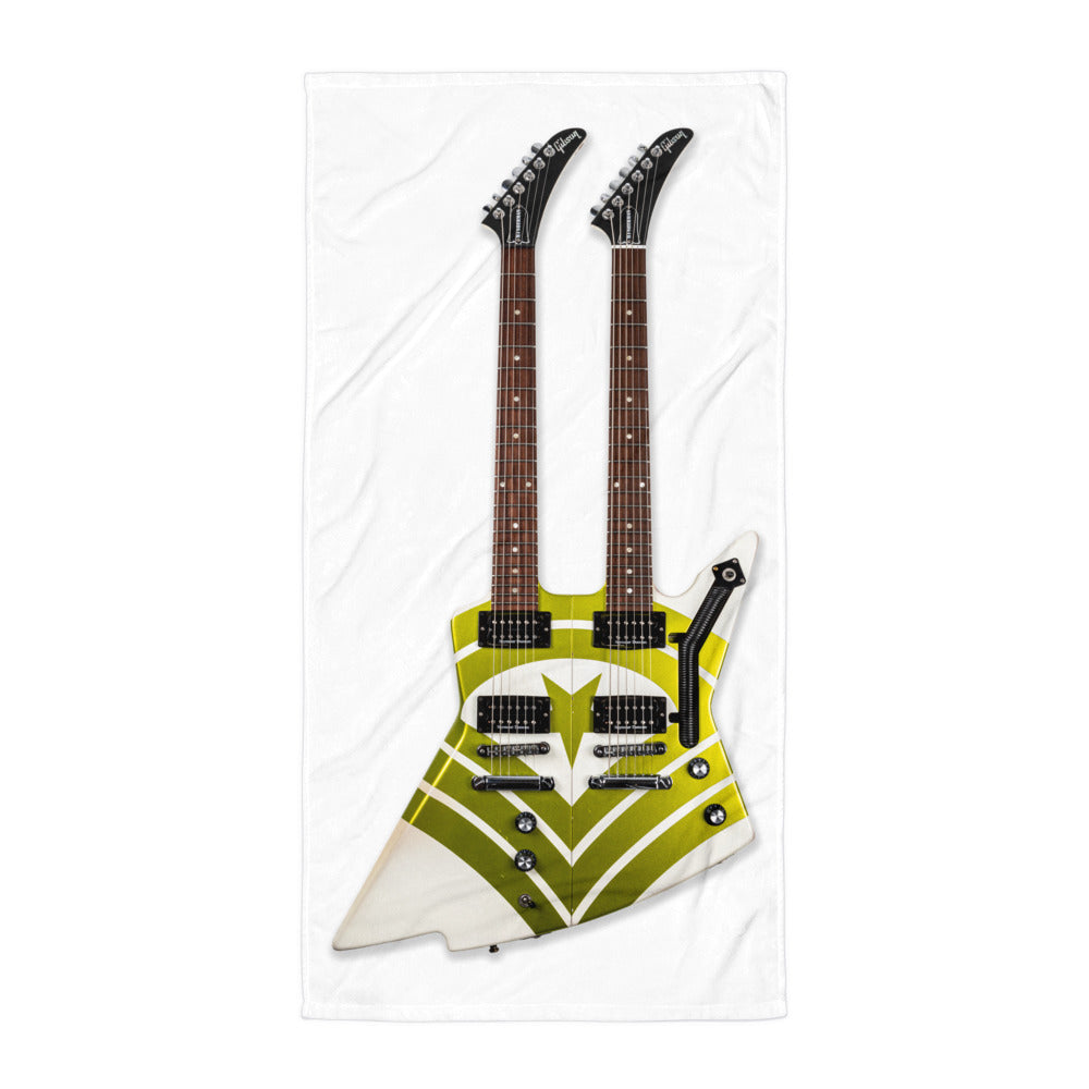 Hooks Guitar Double Neck Towel