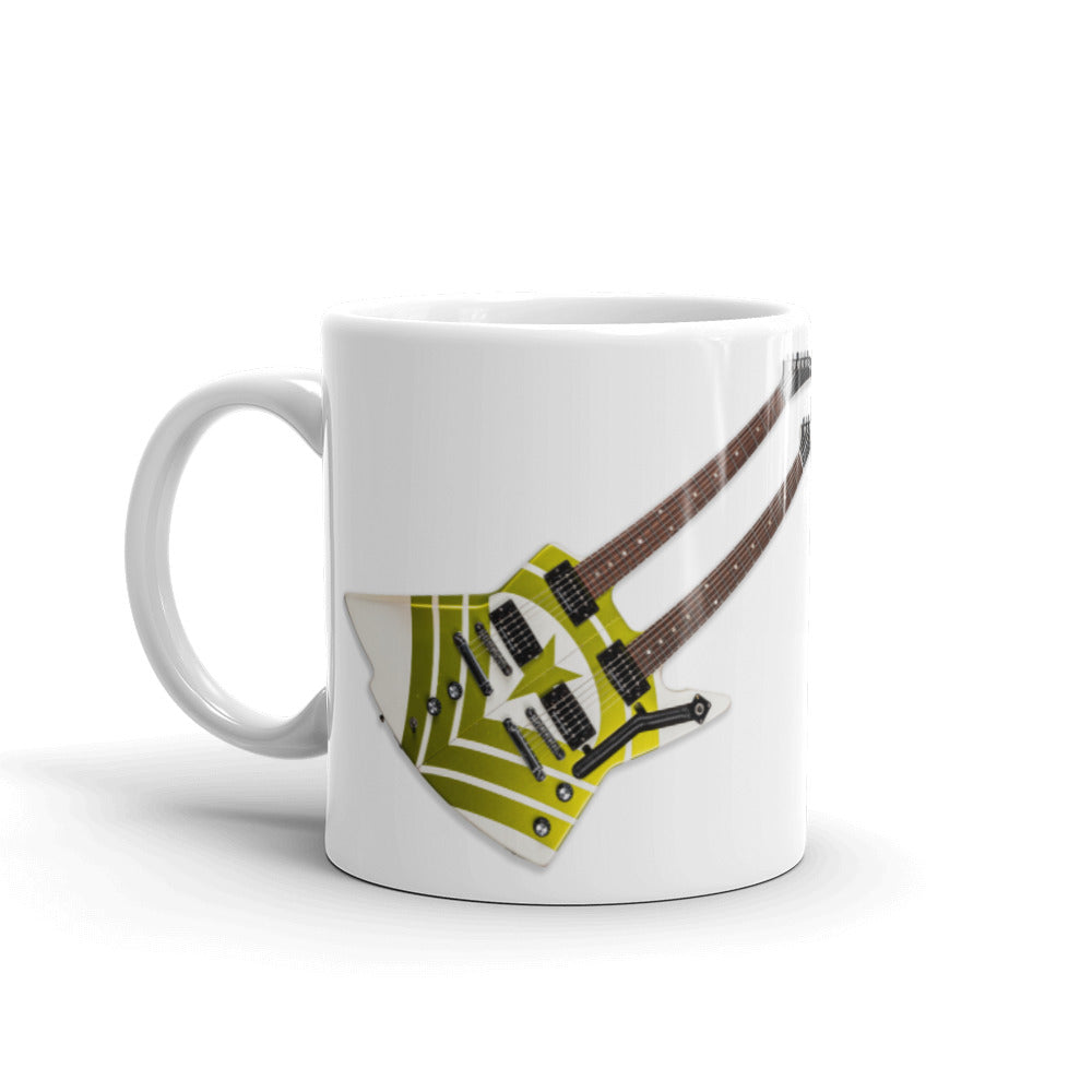 Hooks Guitar Double Neck Mug