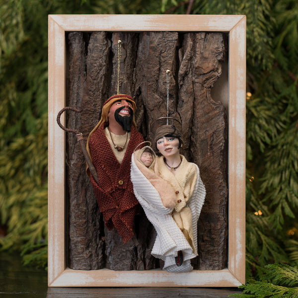 Joseph and Mary with baby Jesus - Double Set 2 figures plus baby-Limited Edition-kenfolks
