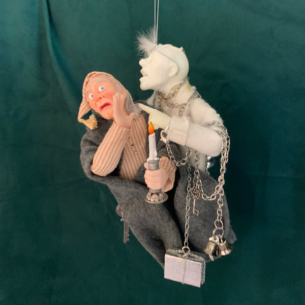 Scrooge & Marley's Ghost - Charles Dickens Christmas Decoration - HandmadeSculpture-Limited Edition-kenfolks