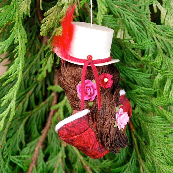 New Years ornament - Eye candy party sweetie - Candy Elf-Hanging Ornament-kenfolks