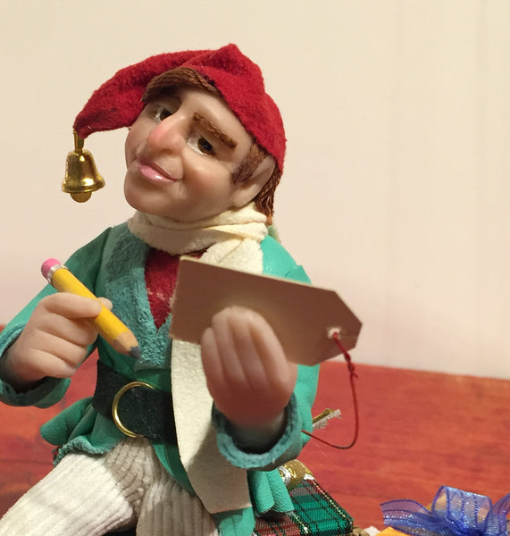 Elf - Santa's Elf is wrapping presents-Home Decor-kenfolks