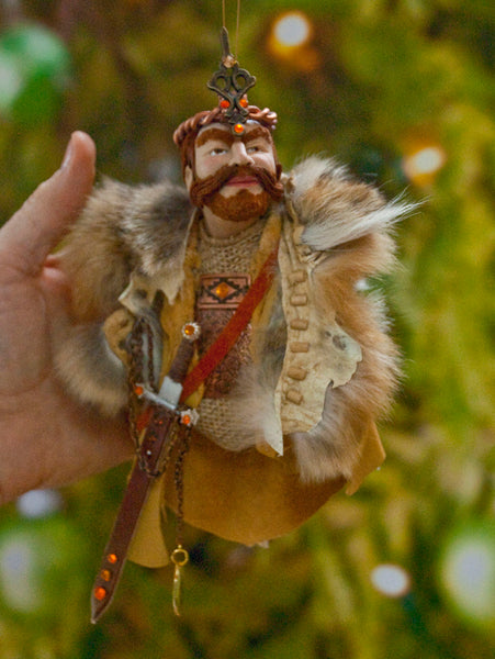 Viking - History comes to life. a spectacular handmade Original sculpture. Hanging Christmas Ornament or Collectable Artwork by Ken Fedoruk Active-Original Art-kenfolks