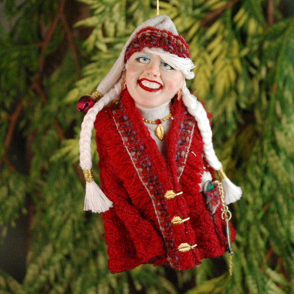 Mrs. Claus Nordic Coat and Hat-Hanging Ornament-kenfolks