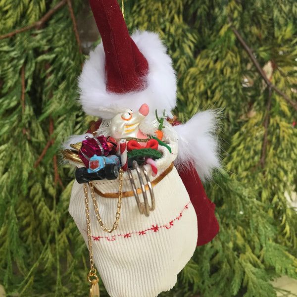 Santa - With white bag filled with toys-Hanging Ornament-kenfolks