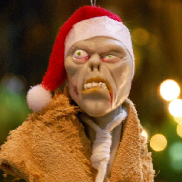 Zombie elf with mouth stitched shut - Walking Dead - Creepy collection of ornaments. Handmade Christmas-Limited Edition-kenfolks