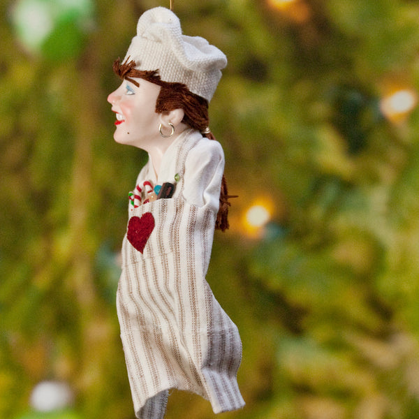 Chef Decoration Christmas - North Pole Elf - delightful gift for the chef - Cooking Apron with a Pocket full of Candy Canes-Limited Edition-kenfolks