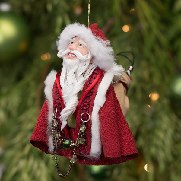 Santa Claus - With sac of toys. Handmade Christmas collectable-Limited Edition-kenfolks