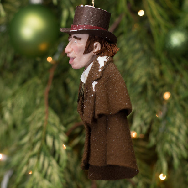Christmas Caroller brown coat - Handmade Christmas by Ken Fedoruk-Limited Edition-kenfolks
