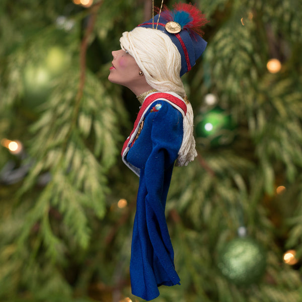 Toy Soldier Great Britain - Christmas or home decor handcrafted hanging Ornament - The Nutcracker comes to life-Original Art-kenfolks