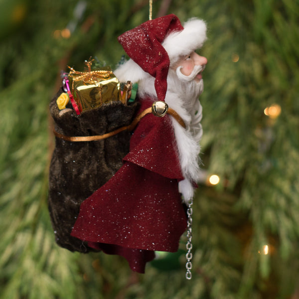 Santa Claus - With big sac full of toys. Handmade Christmas-Limited Edition-kenfolks