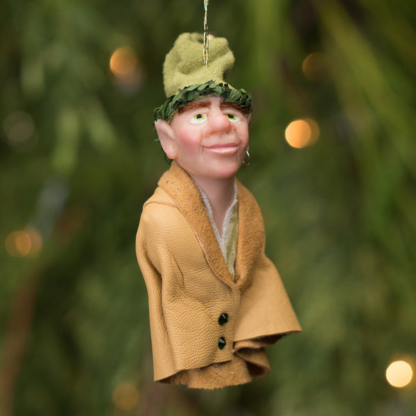 Elf 7- Santa's pint size workshop elf. Handmade Christmas-Hanging Ornament-kenfolks