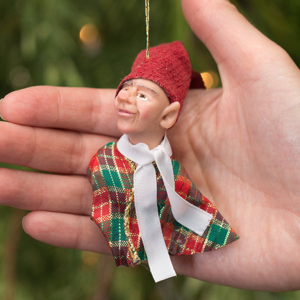 Elf 6- Santa's pint size workshop elf. Handmade Christmas-Hanging Ornament-kenfolks