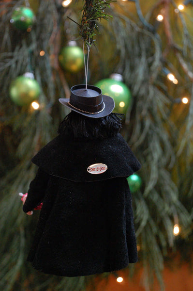 Cowboy themed art, american notorious bank robber Dynamite Dan Clifton, Cowboy Hanging ornament, Christmas Art, by Cdn artist Ken Fedoruk-Limited Edition-kenfolks