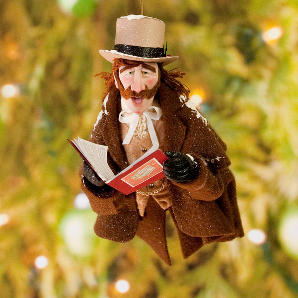 Christmas Carollers ornament singing for you - Charles Dickens - Perfect gift for collectors - Completely Handmade Christmas Ornament-Limited Edition-kenfolks