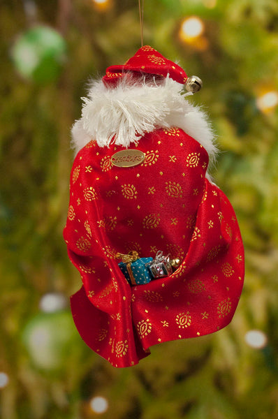 Santa Christmas Decoration - Santa with Christmas Presents - Hand wrapped gifts - Beautiful Santa - Perfect center piece on Christmas Table-kenfolks
