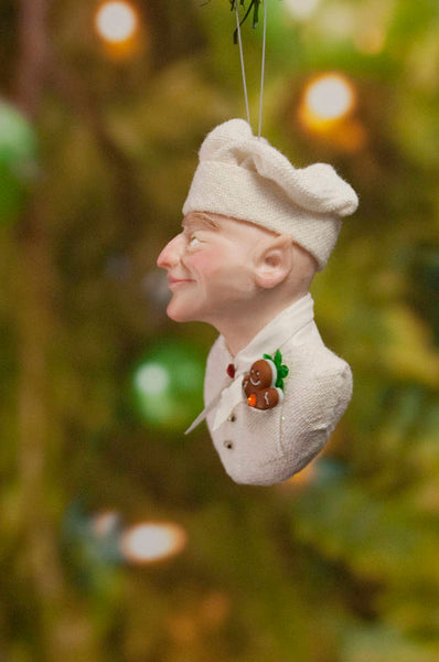 Chef Christmas ornament - Baker Elf - gingerbread man - candy canes - delightful gift for the chef-Limited Edition-kenfolks