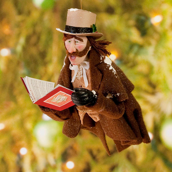 Christmas Carollers ornament singing for you - Charles Dickens - Perfect gift for collectors - Completely Handmade Christmas Ornament-Hanging Ornament-kenfolks