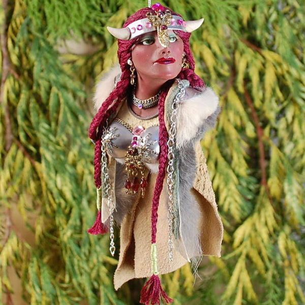 Viking Maiden - History comes to life handcrafted sculpture-Original Art-kenfolks