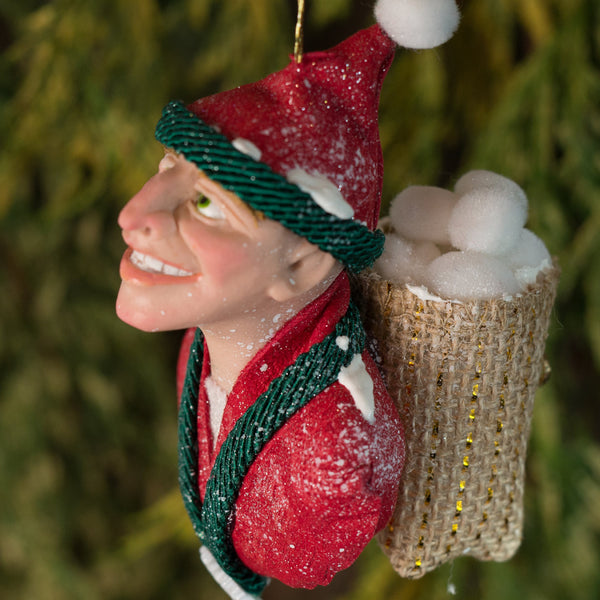 Snow Elf-Hanging Ornament-kenfolks