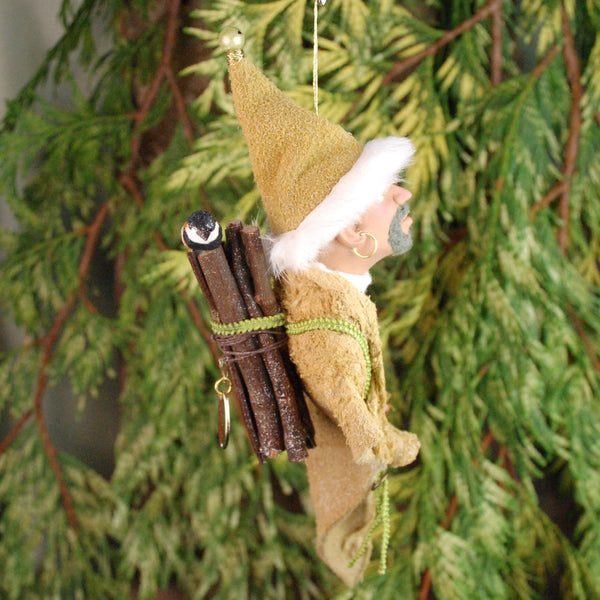 North Pole Elf, Santa's Elf - Hanging Christmas Ornament,-Original Art-kenfolks