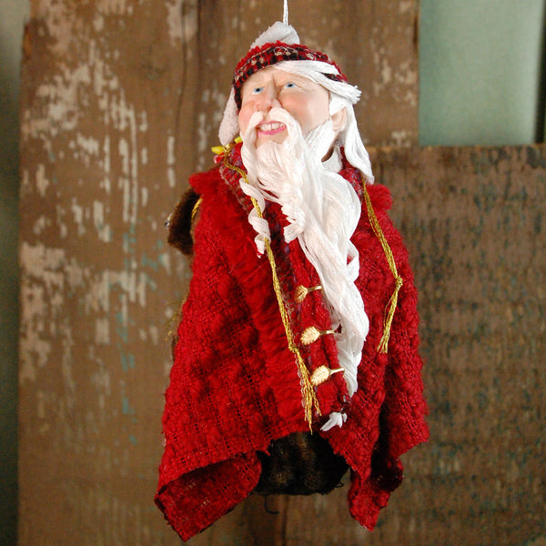 Santa Claus - Long curly white beard, sac full of presents and toys-Limited Edition-kenfolks