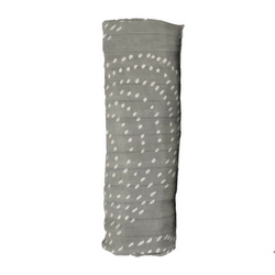 Bamboo Baby Swaddle Blanket - Grey Dots (Single)