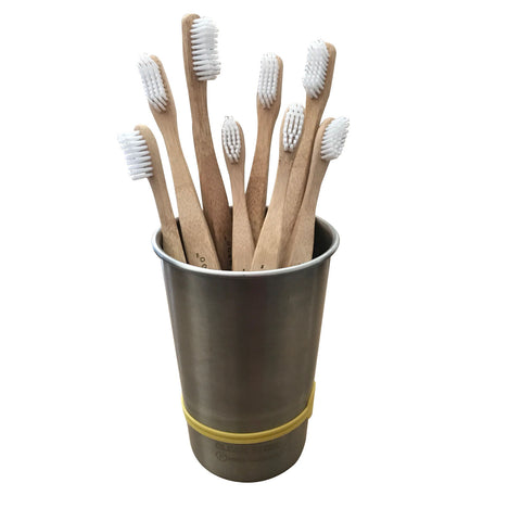 Eco-Friendly BPA-Free Bamboo Toothbrushes (Set of 4)