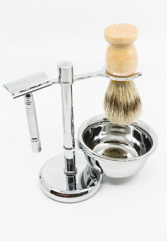 Stainless Steel Shave Caddy Set