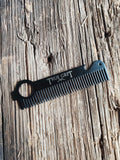 Steel Tooth Comb With Sheath (Black)