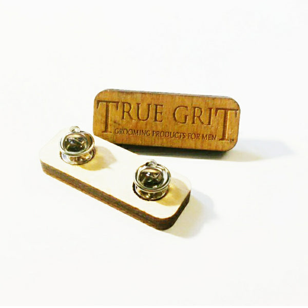 TRUE GRIT GROOMING WOOD PIN