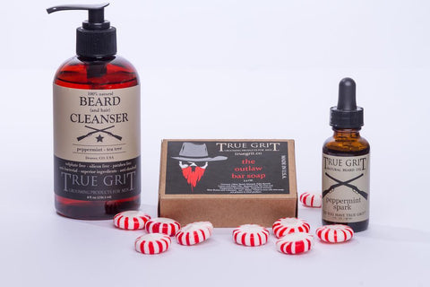Peppermint Travel Beard Gift Set