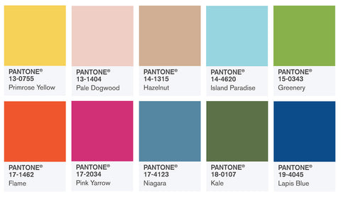 Pantone Colors of the Year 2017