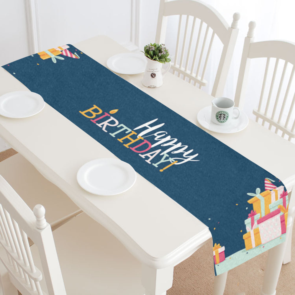 Happy Birthday I Table Runner