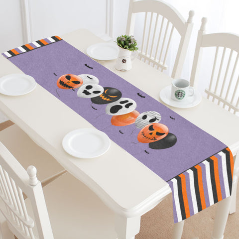 Halloween Balloons Table Runner