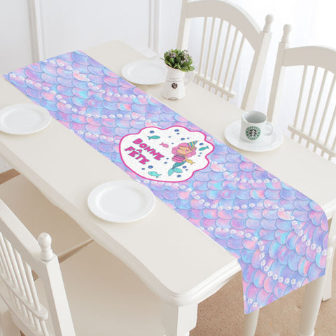 Bonne Fête Mermaid Table Runner