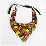 Batik Ankara Button Necklace