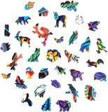 Animals Wooden Puzzles with Animal Shapes Pieces (19 Models)