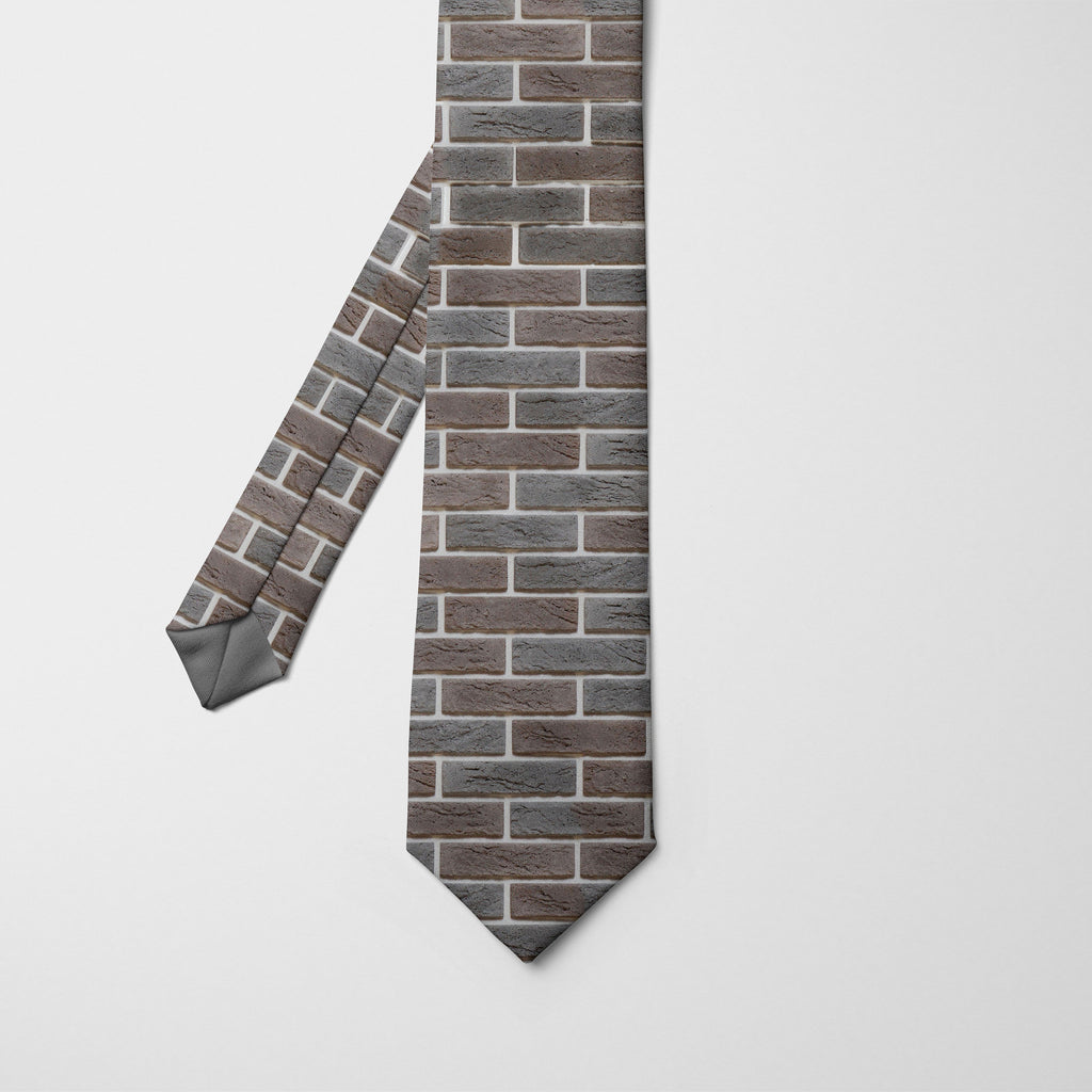 Another Brick in the Wall Printed Tie