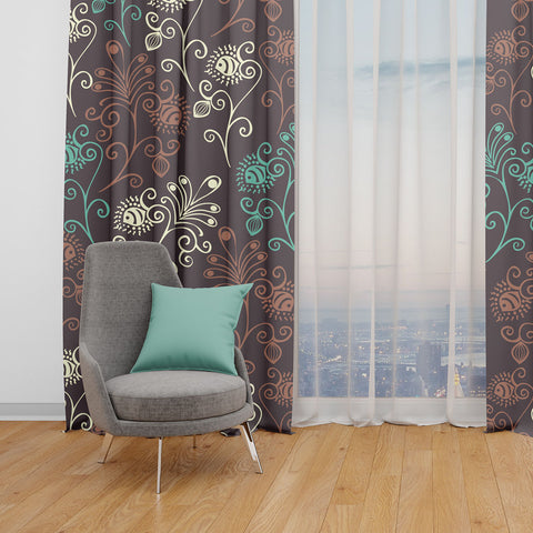 Asciotis Window Curtains