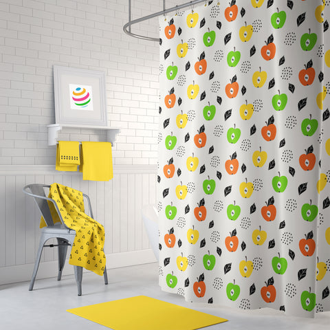 Autum Apples Shower Curtain