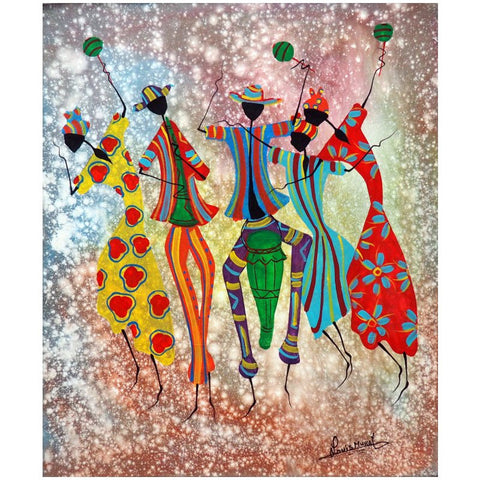 'Fet Banbilay' Haitian painting | Latitudes World Décor