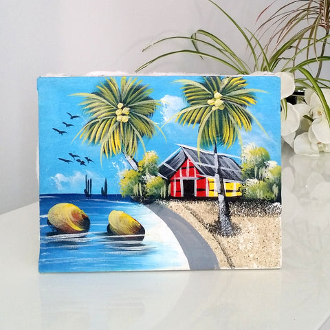 Beach painting from Dominican Republic | Latitudes World Décor