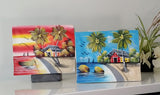 Pair of paintings Dominican Republic | Latitudes World Décor
