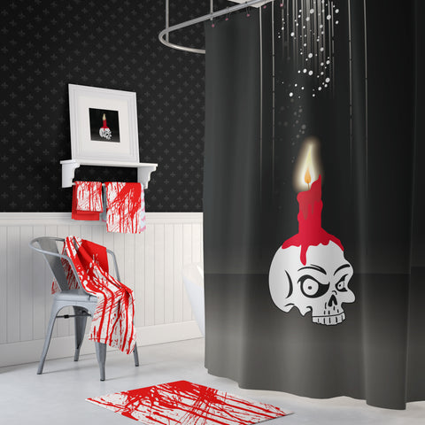 Bloody Skully Shower Curtain