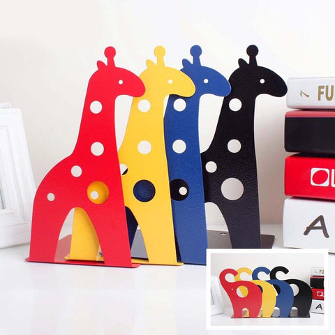 Cartoon Savannah Colorful Iron Bookends