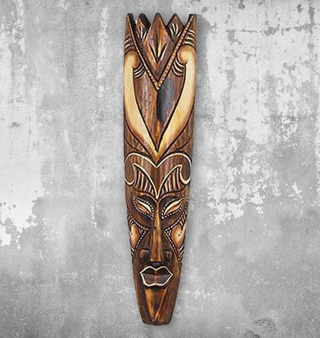 Carved Anoa Solid Wood Mask