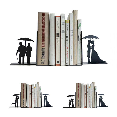 Create your Own Mix & Match Couple Silhouettes Bookends