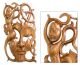 Balinese suar wood mask | Latitudes World Décor